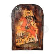Saint Dimitrios on horseback