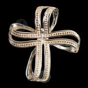 Silver cross necklace Τ2