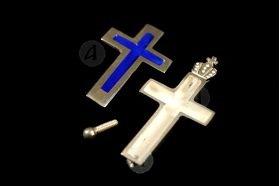 Silver Screw Cross Necklace 144
