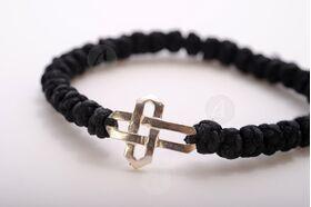 Κομποσχοίνι με ασημένιο σταυρό