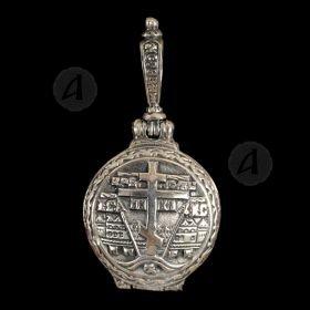 Silver Screw Cross Necklace 153