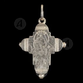 Silver Screw Cross Necklace 4