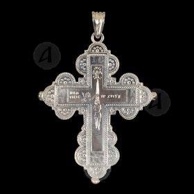 Silver Screw Cross Necklace 56