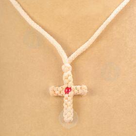 Knit Cross Necklace