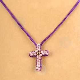 Knit Cross Necklace