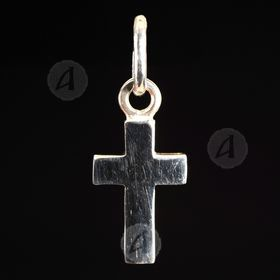 Silver cross necklace 20