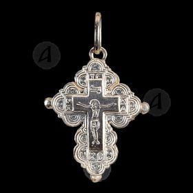 Silver Screw Cross Necklace 82