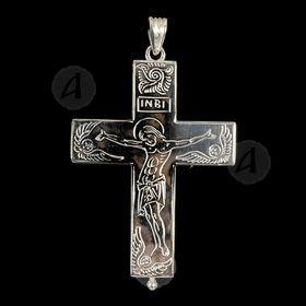 Silver Screw Cross Necklace 122