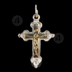 Silver Screw Cross Necklace 146