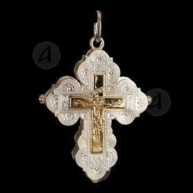 Silver Screw Cross Necklace 1