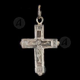 Silver Screw Cross Necklace 43
