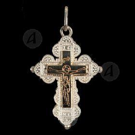 Silver Screw Cross Necklace 84