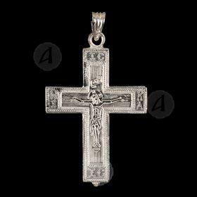 Silver Screw Cross Necklace 90