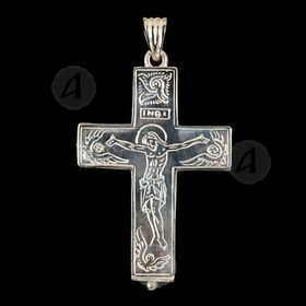 Silver cross necklace 92