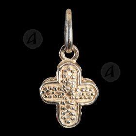 Silver cross necklace Τ8