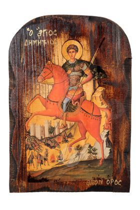 Saint Dimitrios on horseback