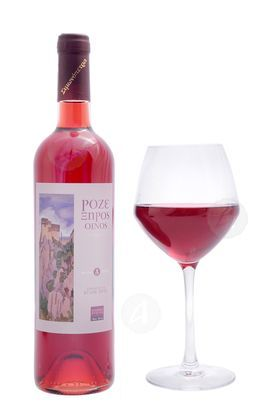 Dry rose wine